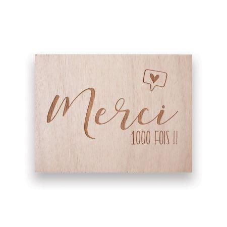 "Panneau en bois ""merci"" -..."