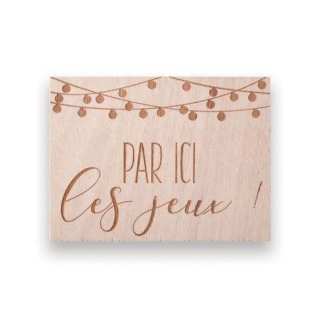 """Panneau en bois """"jeux"""" -..."""