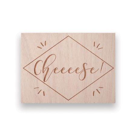 """Panneau en bois """"cheese"""" -..."""