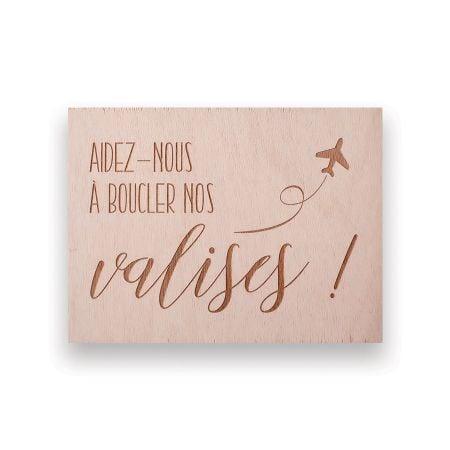 """Panneau en bois """"valises"""" -..."""