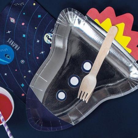 """6 assiettes """"fusée dans..."""
