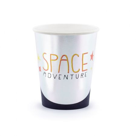 "6 gobelets ""espace"" - 29 cm"