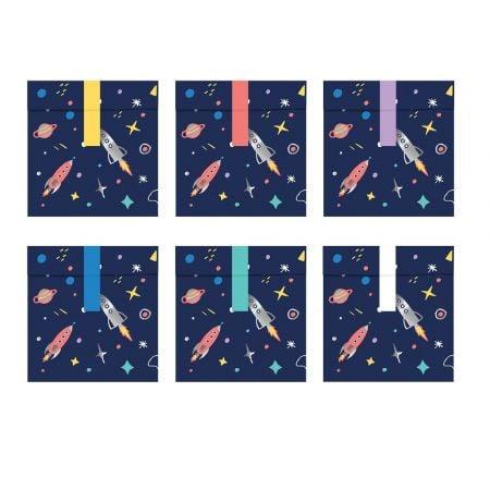 """6 sachets en papier """"espace"""""""