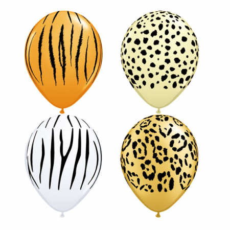 "Lot de 25 ballons ""safari""..."