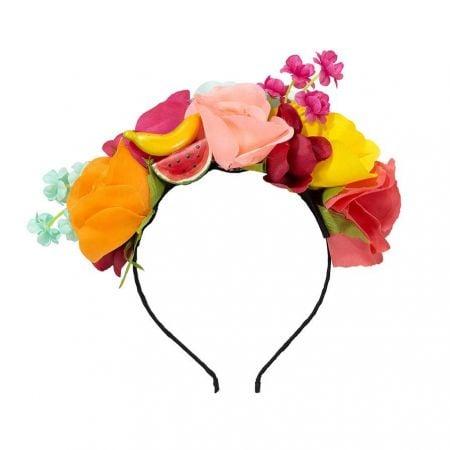 Serre tête de fleurs et fruits