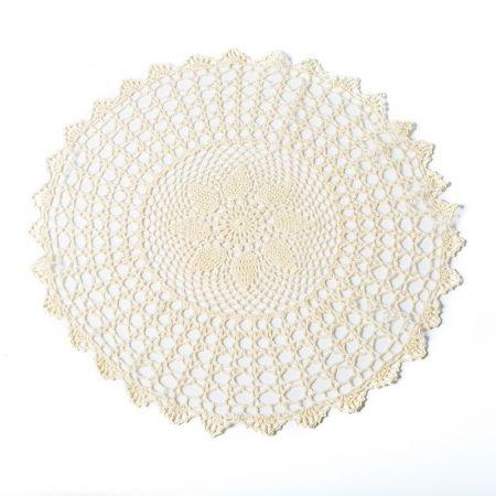 Napperon crochet crème - 50 cm