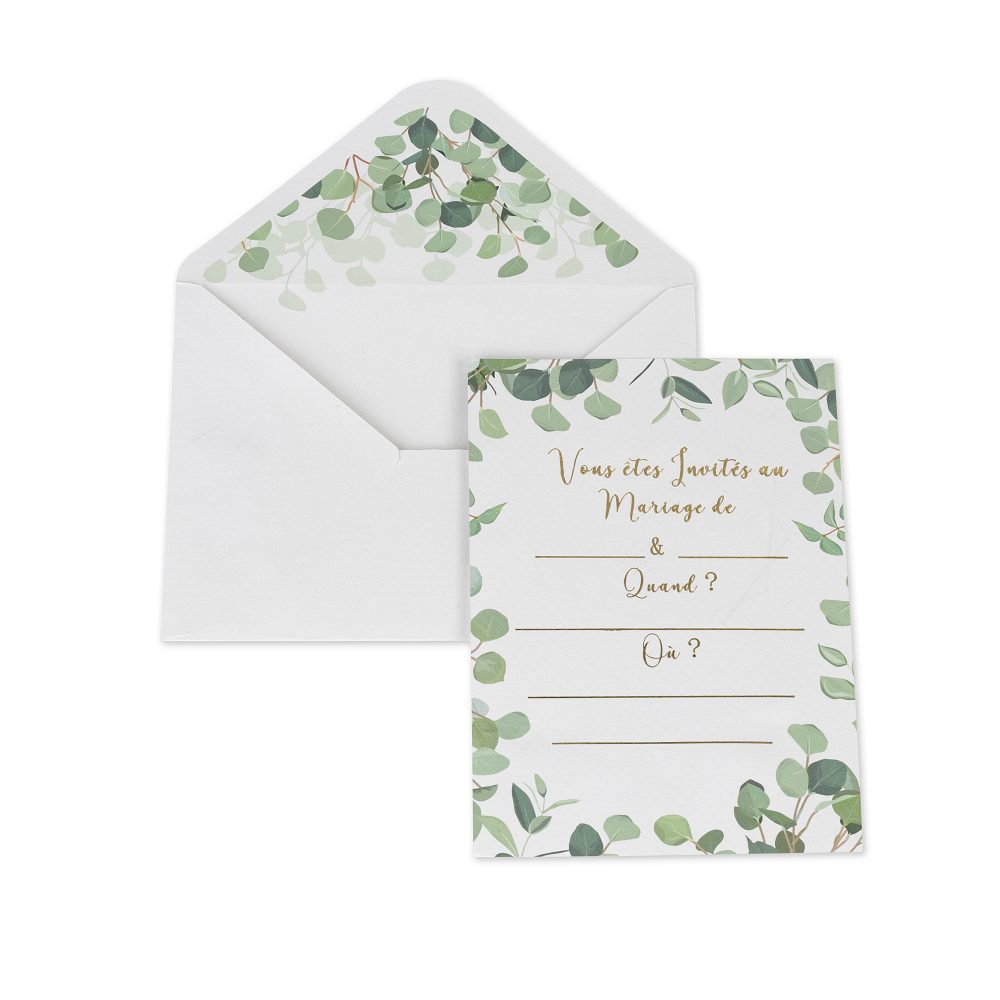 invitations eucalyptus