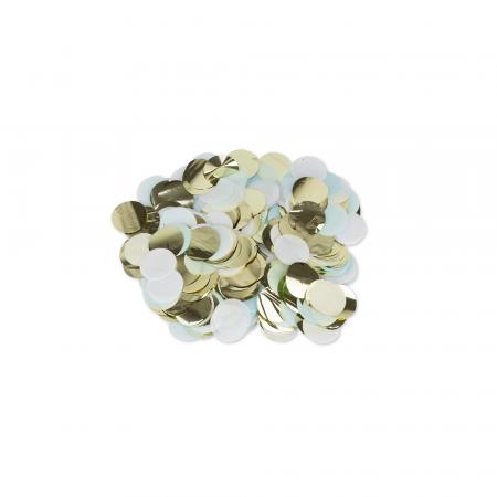 confettis bleu, blanc et doré