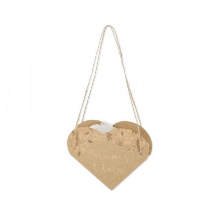 sacs parsemez l'amour kraft et bronze