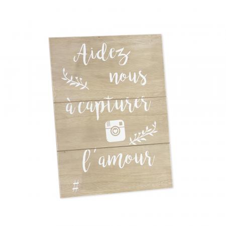 """Panneau en bois """"Instagram"""""""