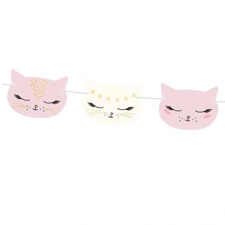 "Guirlande ""têtes de chats"""