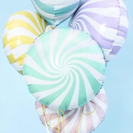 """Ballon rond """"bonbon menthe""""..."""