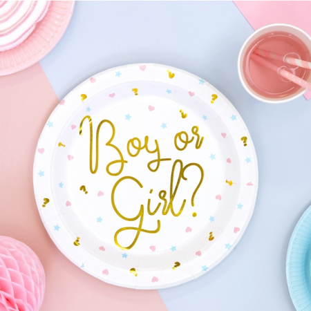"6 assiettes ""Boy or Girl ?""..."