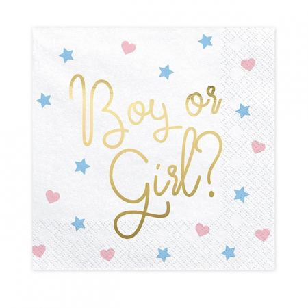 "20 serviettes""Boy or Girl..."