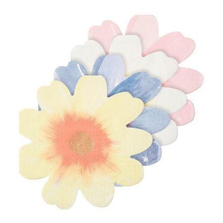 """16 serviettes """"fleurs"""" -..."""