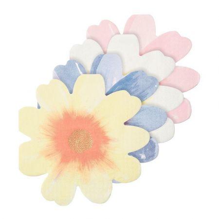 """8 serviettes """"fleurs"""" -..."""