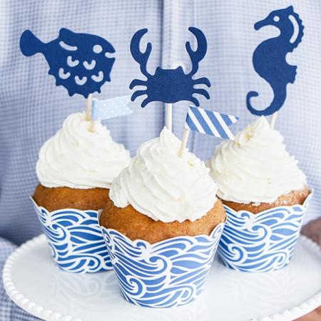 """6 pics à gâteaux """"sous la mer"""""""