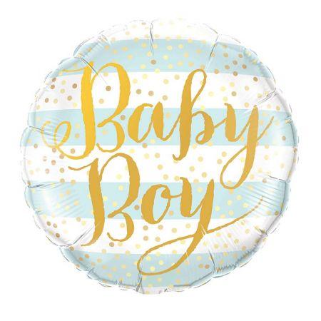 """Ballon rond """"Baby boy"""" - 45 cm"""