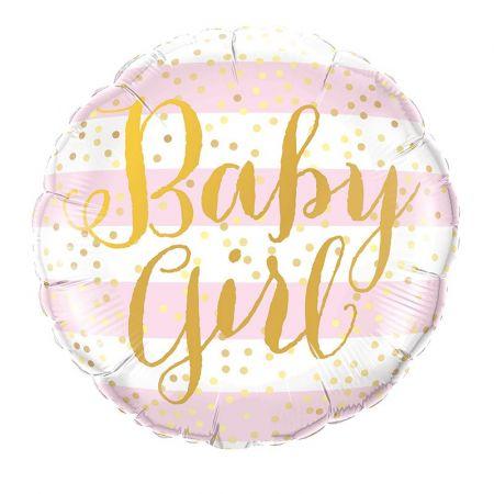 """Ballon rond """"Baby girl"""" -..."""