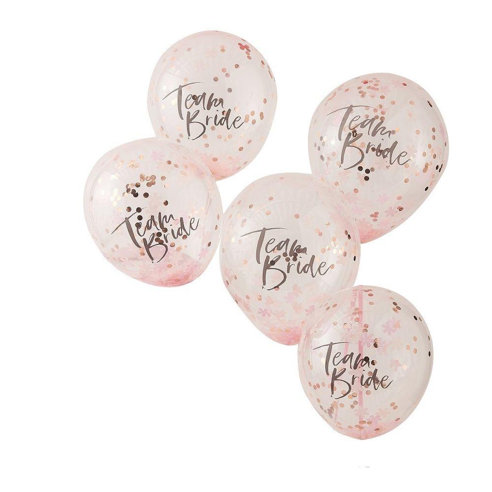 ballons confettis team bride