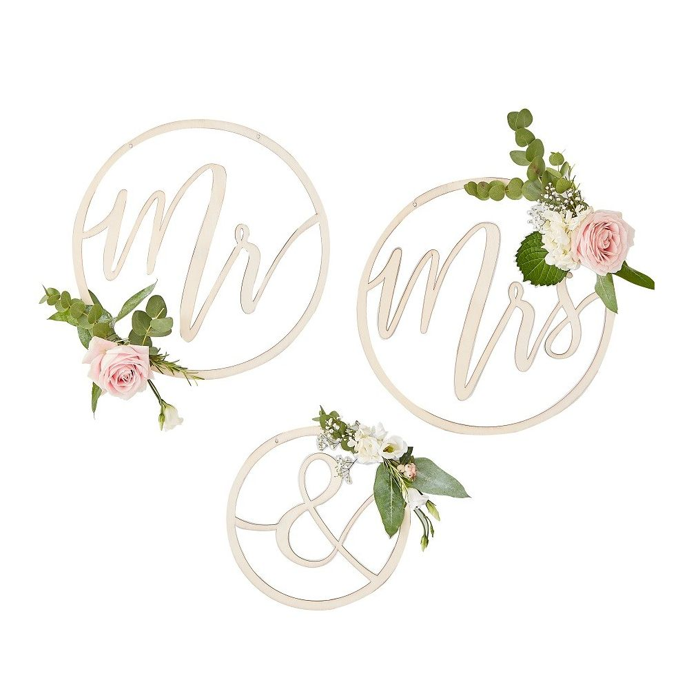 ronds en bois mr & mrs