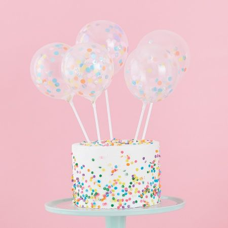 Cake topper 5 mini ballons