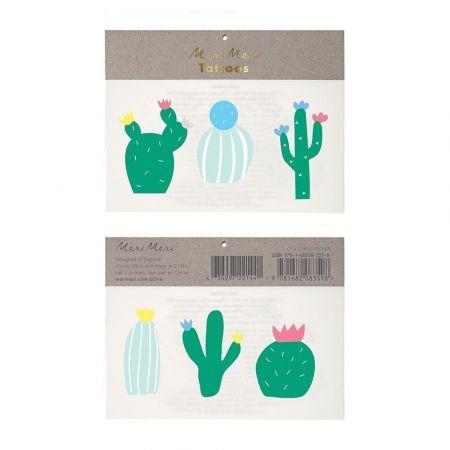 """Tatouages temporaires """"cactus"""""""