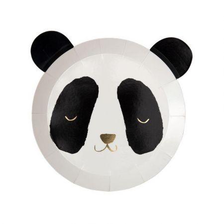 """8 assiettes """"tête de panda"""""""