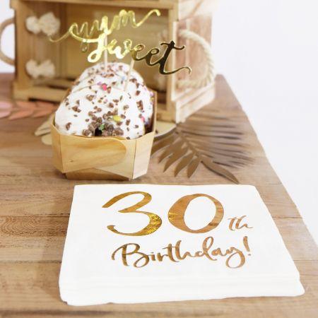 """20 serviettes """" 30 ans """""""