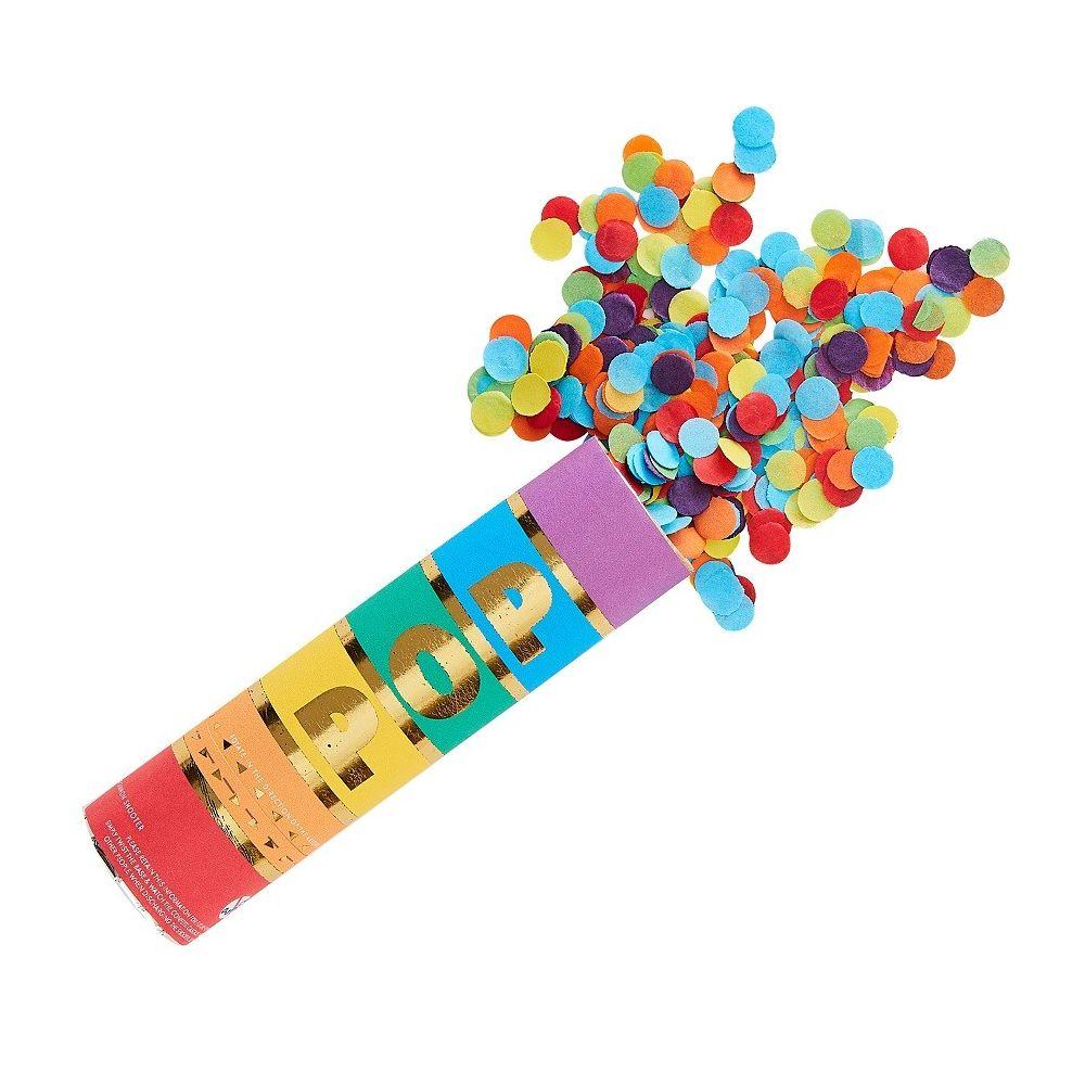 canon à confettis colorés
