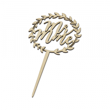 "Cake topper ""Mr Mme"""