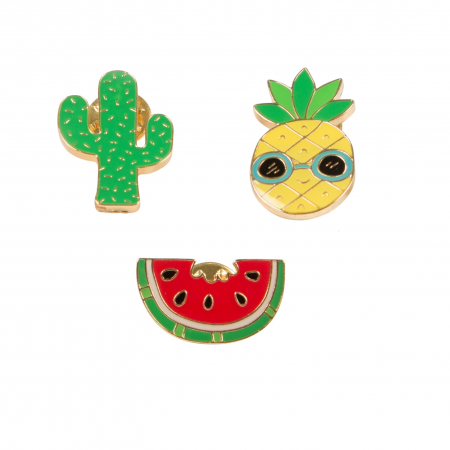 "Lot de 3 pin's ""tropicool"""