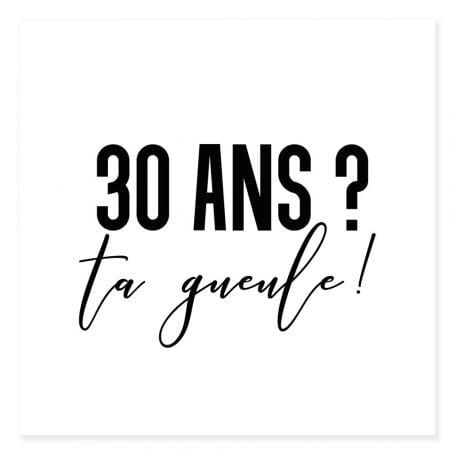 """Tatouage temporaire """"30 ans"""""""