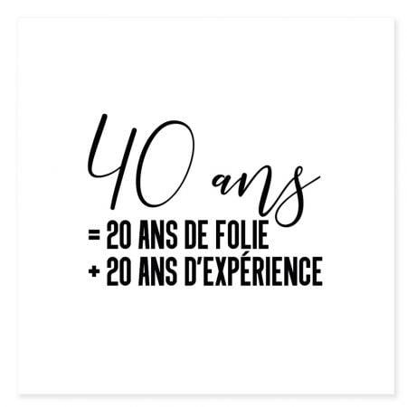 """Tatouage temporaire """"40 ans"""""""