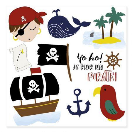 """Tatouages temporaires """"pirate"""""""