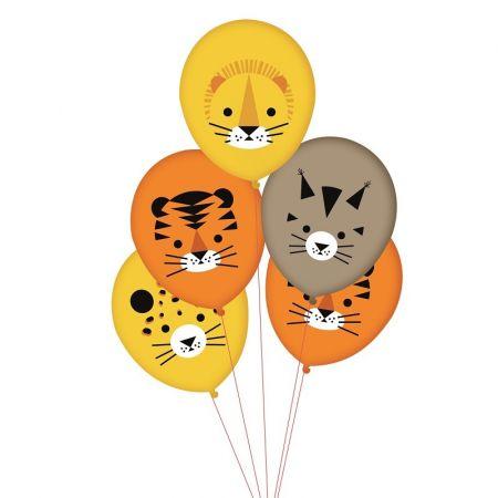 """5 ballons """"félins"""" -  30 cm"""