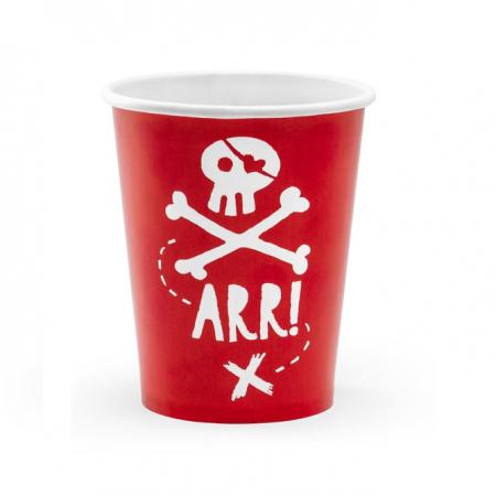 "6 gobelets ""pirate"