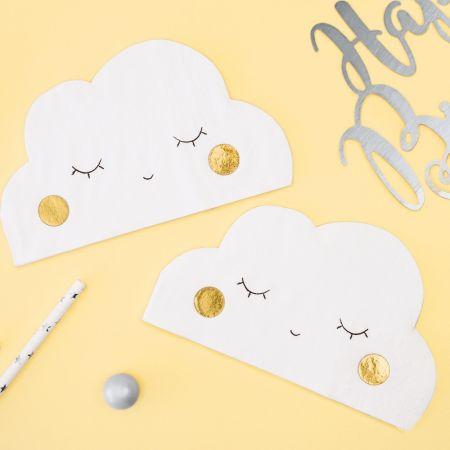 """20 serviettes """"nuage"""""""