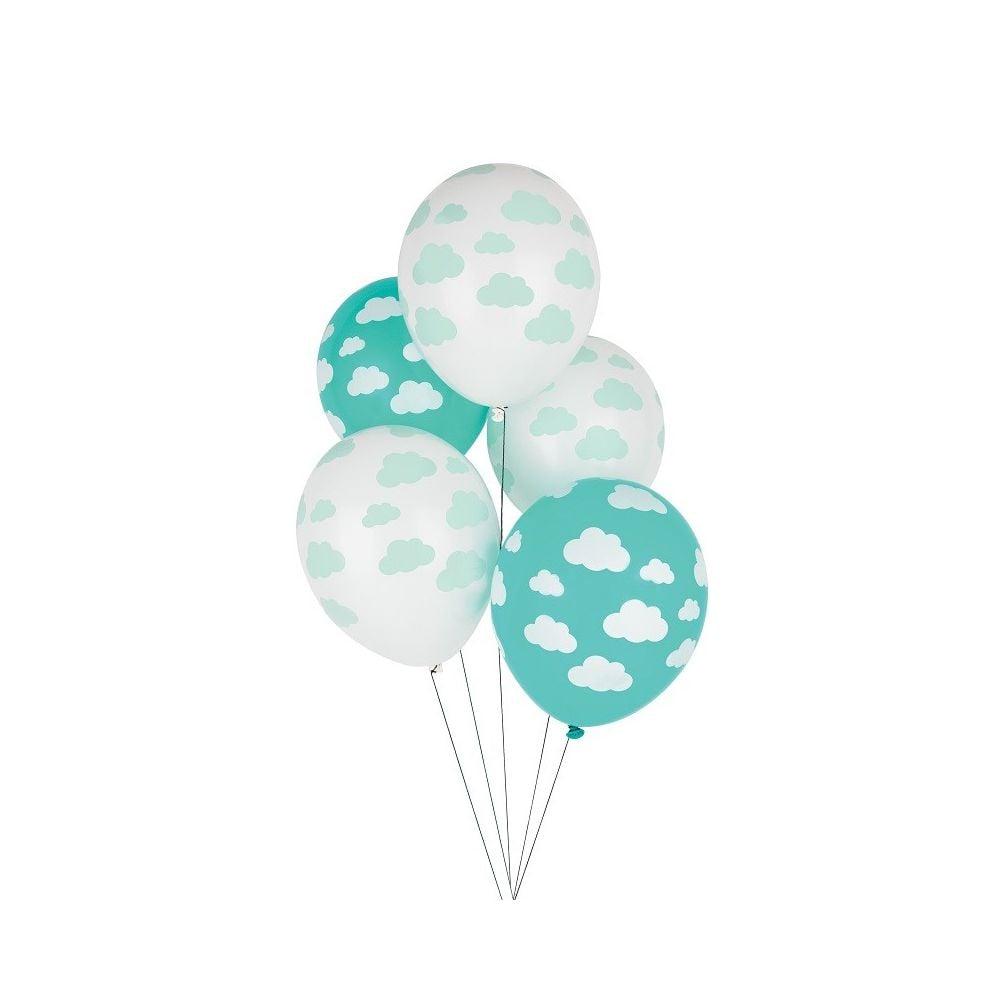 5 ballons nuage