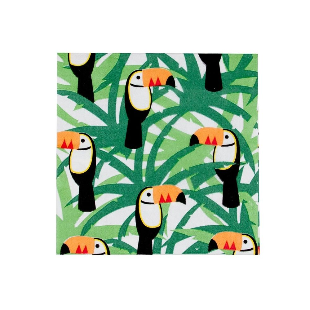 serviettes jolis toucans