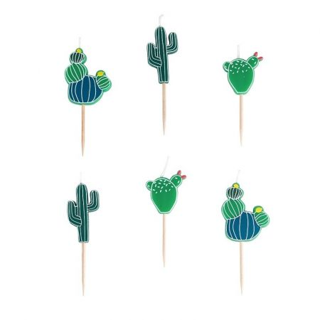 "6 bougies ""cactus"""