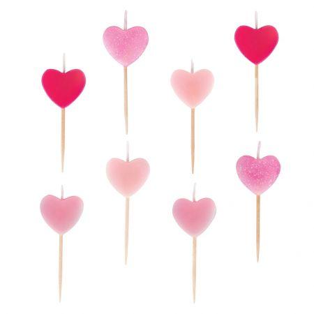8 bougies cœurs