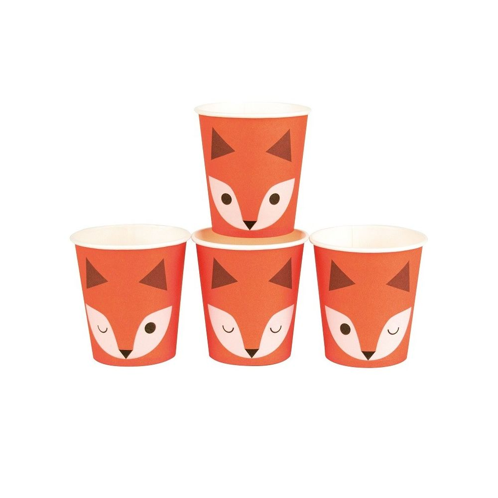 8 gobelets mini renards