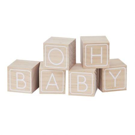 """Cubes en bois """"oh baby"""""""