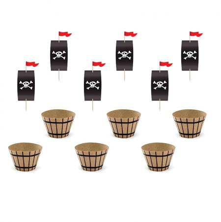 6 caissettes cupcakes et...