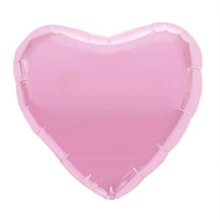 Ballon coeur rose - 45 cm