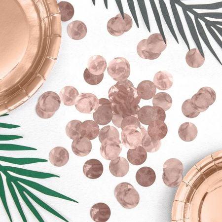 15 g confettis mylar rose gold