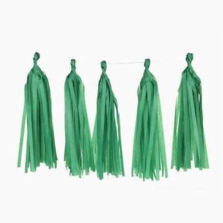 5 tassel vert jade
