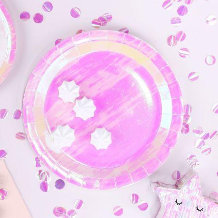 6 assiettes irisées - 23 cm