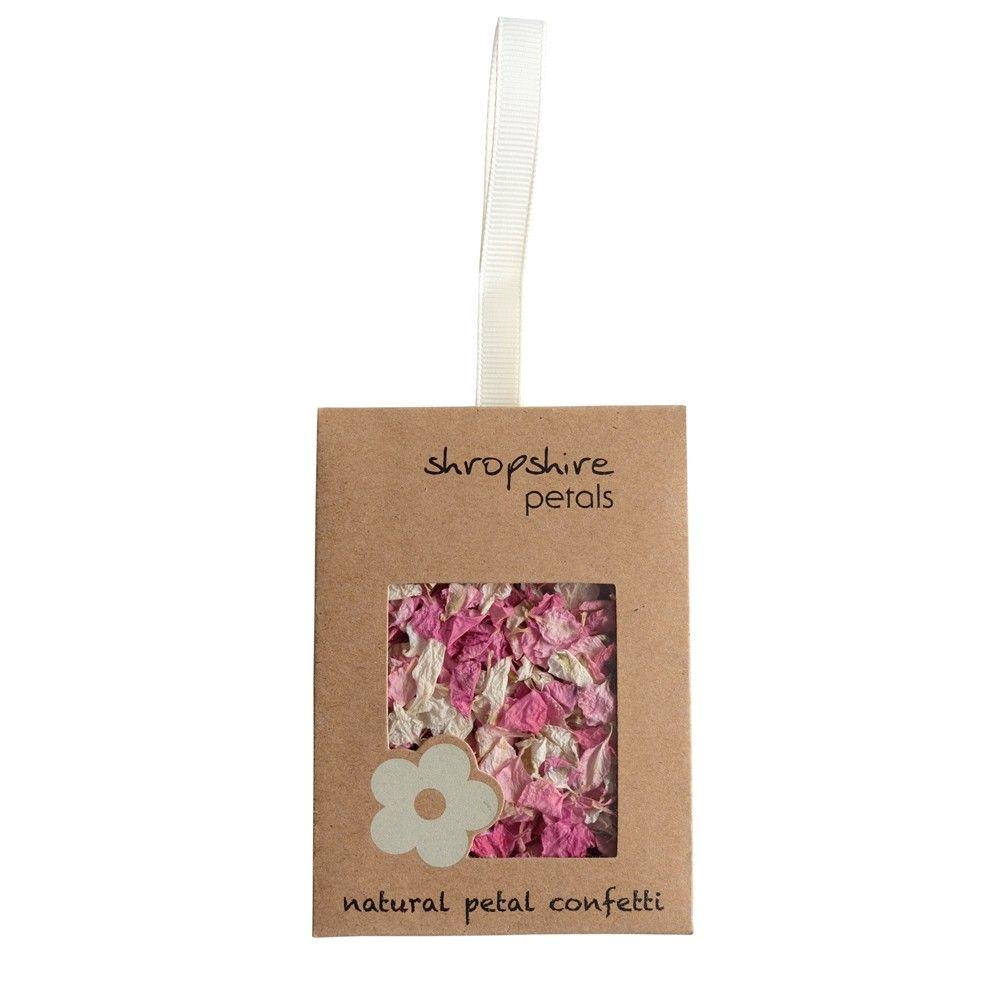 Sachet kraft confettis pétales de fleurs rose